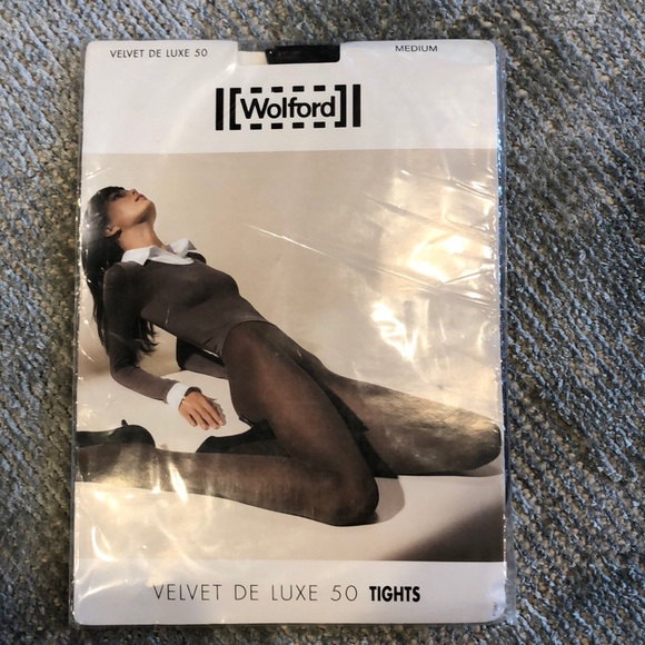 ae935128e2e Wolford NWT opaque dark gray tights